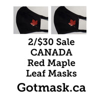 red maple leaf face mask