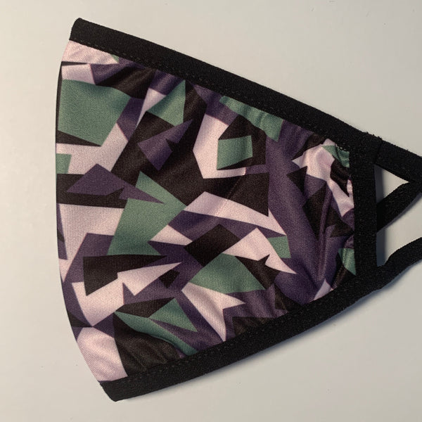 New Age Camo Face Mask with Adjustable Straps
