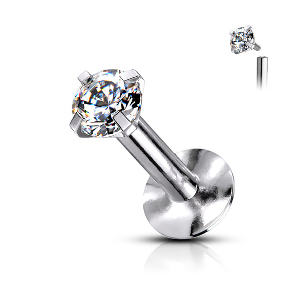 Clear Cubic Zirconia Flat Back Studs