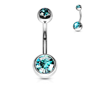 Basic Gem Belly Button Bar