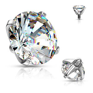 Prong Set Cubic Zirconia Dermal Tops