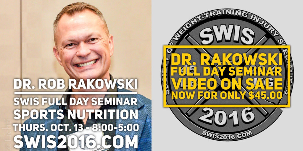 A SWIS 2016 Dr. Rob Rakowski Sports Nutrition Pre Conference Video