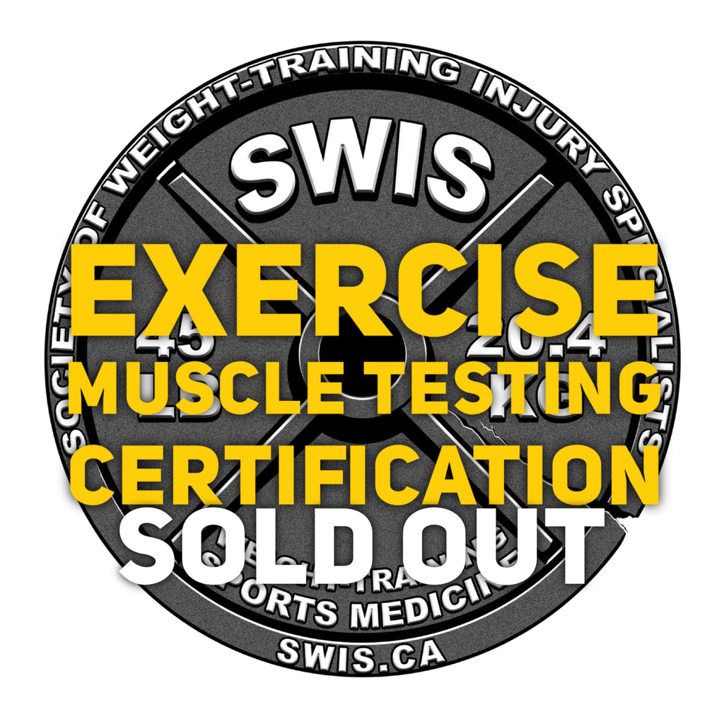 Vol.211 - Exercise Muscle Testing Seminar - Upper and Lower Body Certification - April 14-15, 2018 - Toronto, Ontario