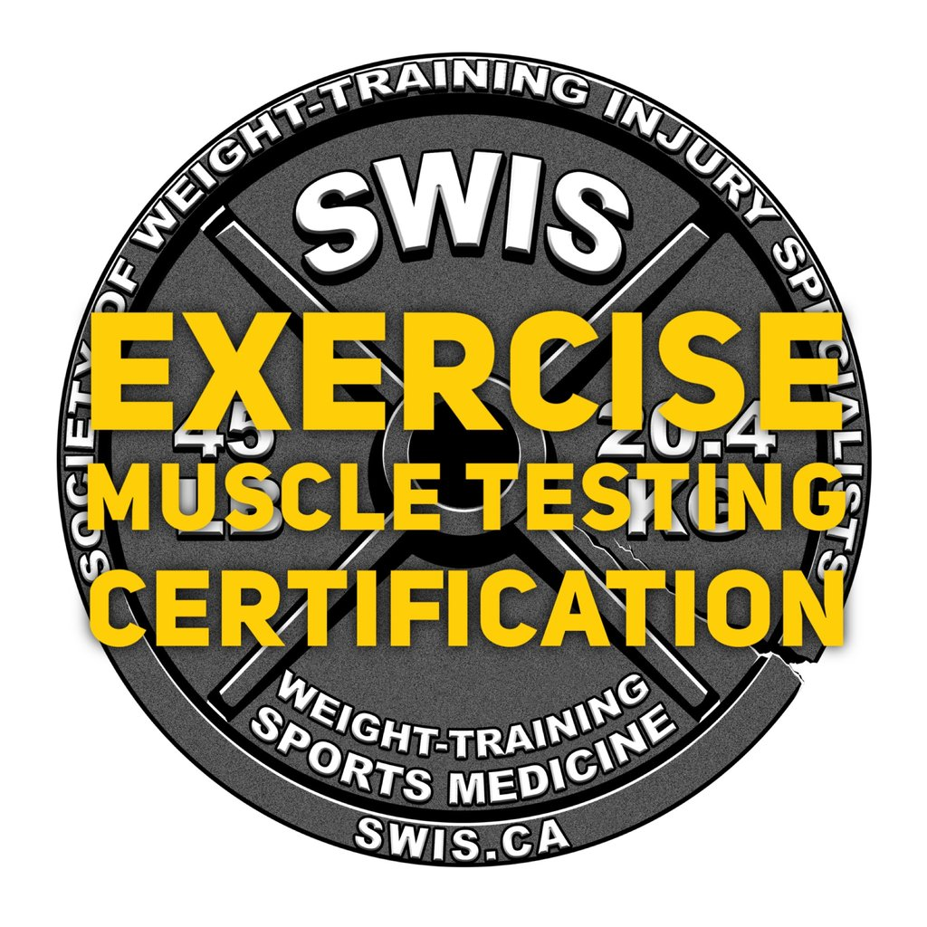 Vol.214 - Exercise Muscle Testing Seminar - Upper and Lower Body Certification - Nov. 9-10, 2019 - Burlington, Ontario