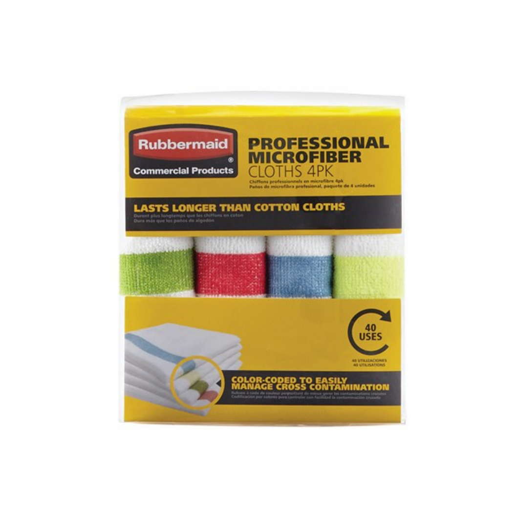 Set de Limpiones MIcrofibra Rubbermaid 4 colores (1824723)