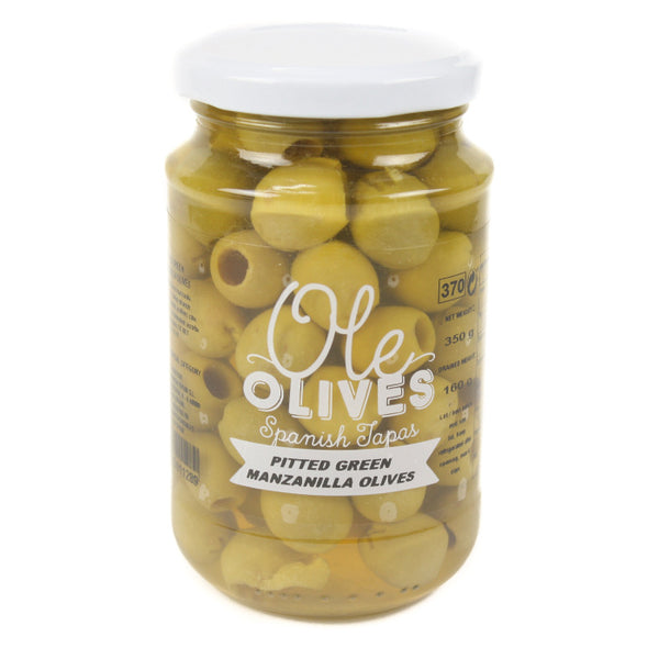 Ole Pitted Green Manzanilla Olives 370 g