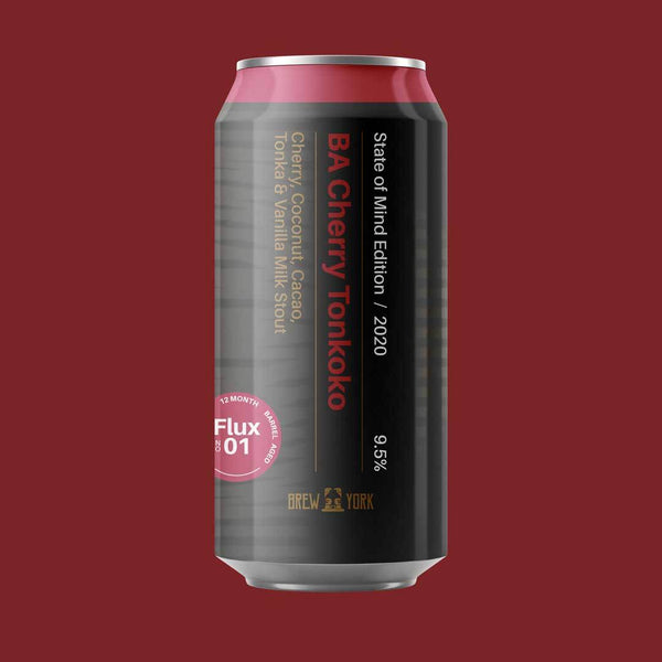 Brew York - Barrel Aged Cherry Imperial Tonkoko - 9.5% ABV - 440ml Can