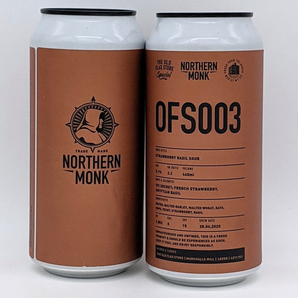 Northern Monk - OFS003 - Strawberry & Basil Sour - 5.1% ABV - 440ml Can
