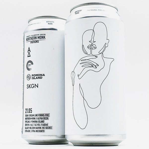 Northern Monks - 21.05 SKGN // DREAM LINE FORMS: FIVE // ALPHA DELTA // PIPELINE // POMONA ISLAND // DDH IPA - 7.4% ABV - 440ml Can