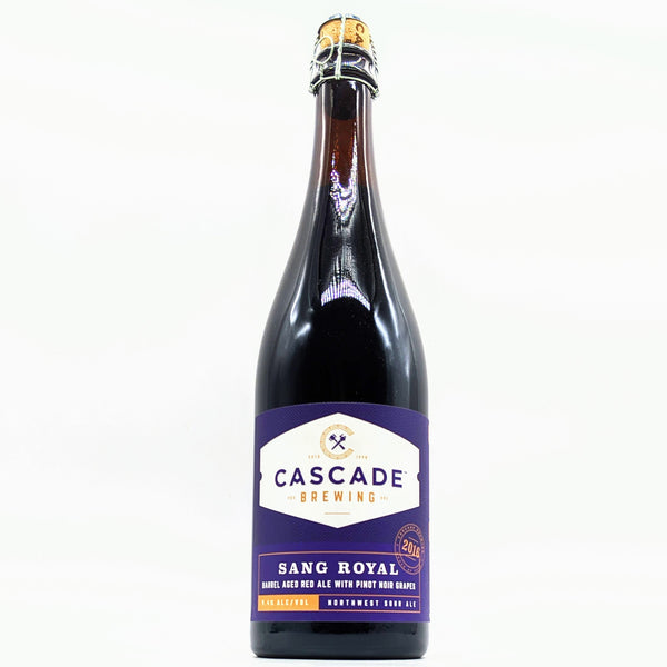 Cascade Brewing - Sang Royal - 9.4% Barrel Aged Red Ale with Pinot Noir Grapes - 750ml Bottle