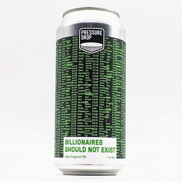 Pressure Drop - Billionaires Should Not Exist - 7.2% NE IPA - 440ml Can