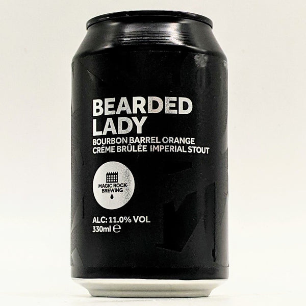 Magic Rock - Bourbon Barrel-Aged Orange Crème Brulee Bearded Lady - 11% Imperial Stout - 330ml Can