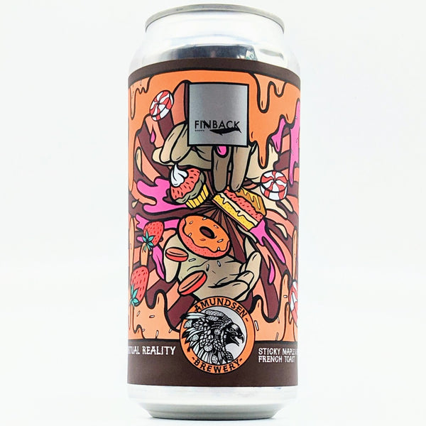 Amundsen / Finback - Virtual Reality 02 - 12.0% Sticky Maple & Banana French Toast Pastry Stout - 440ml Can