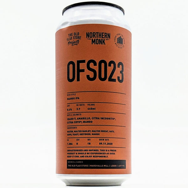 Northern Monk - OFS023 - 8.4% Mango DIPA - 440ml Can