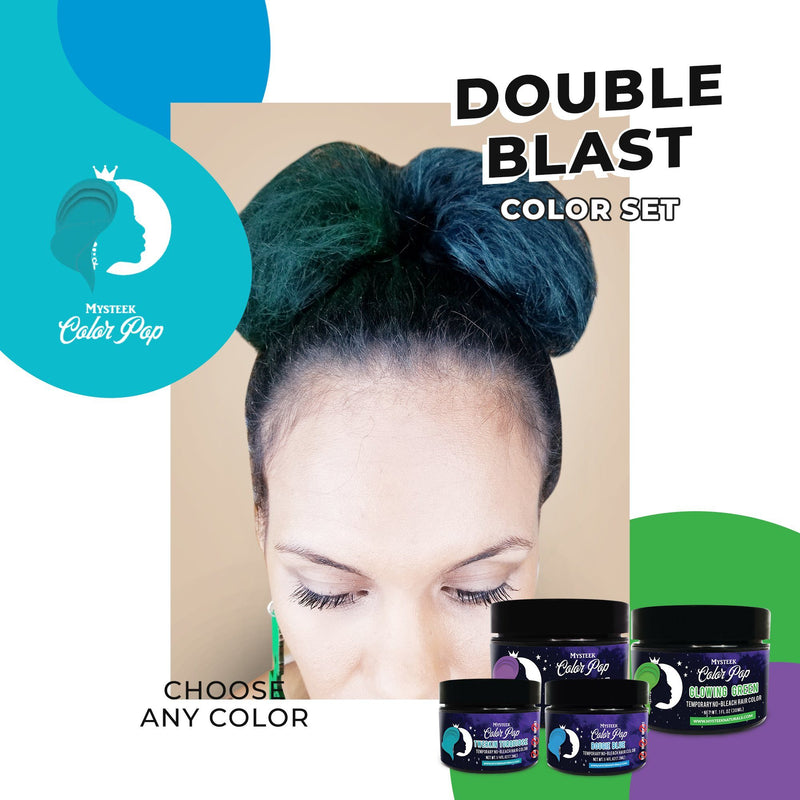 Double Blast Color Set (2 1/4 oz Colors & 2 1oz Colors) Royal Purple | Bougie Blue | Fierce Fuchsia|Assertive Auburn