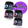 Four The Love of Color Set ( 4 Colors 1oz) Royal Purple | Bougie Blue | Mutha Maroon | Fierce Fuchsia.