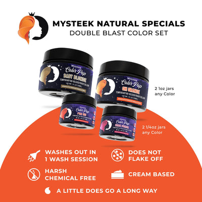 Double Blast Color Set (2 1/4 oz Colors Royal Purple | Bougie Blue & 2 1oz Colors Fierce Fuchsia|Assertive Auburn)