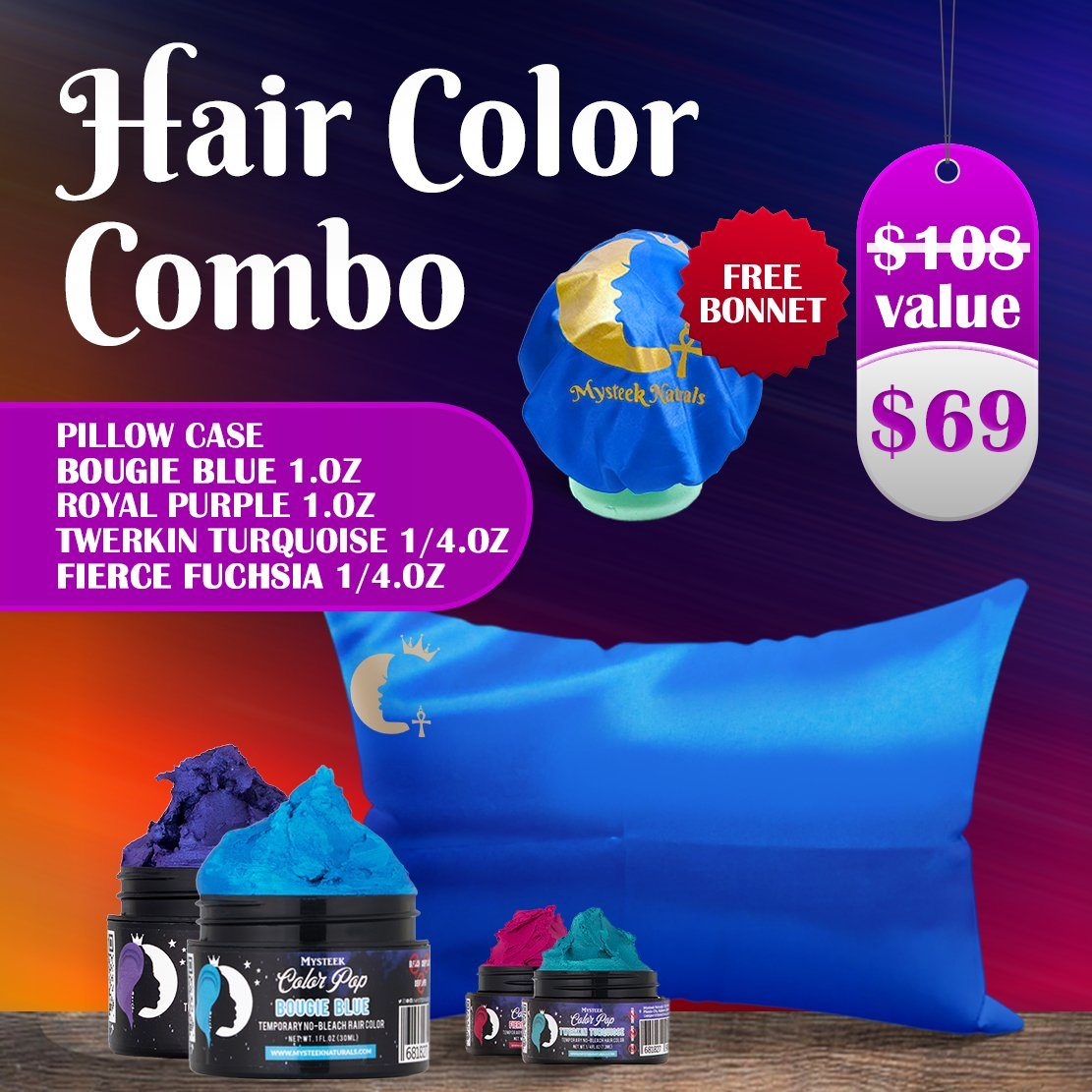 Hair Color Combo - FREE SLEEP KIT