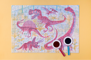 Puzzle Entdecke Dinosaurier 200 Teile (+Magische Lupe)