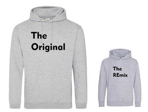 Original and REmix Matching adult and child Hoodie