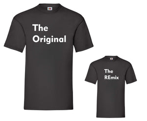 Original and REmix matching adult child t-shirts