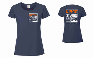St Abbs Lifeboat T-Shirt Ladies