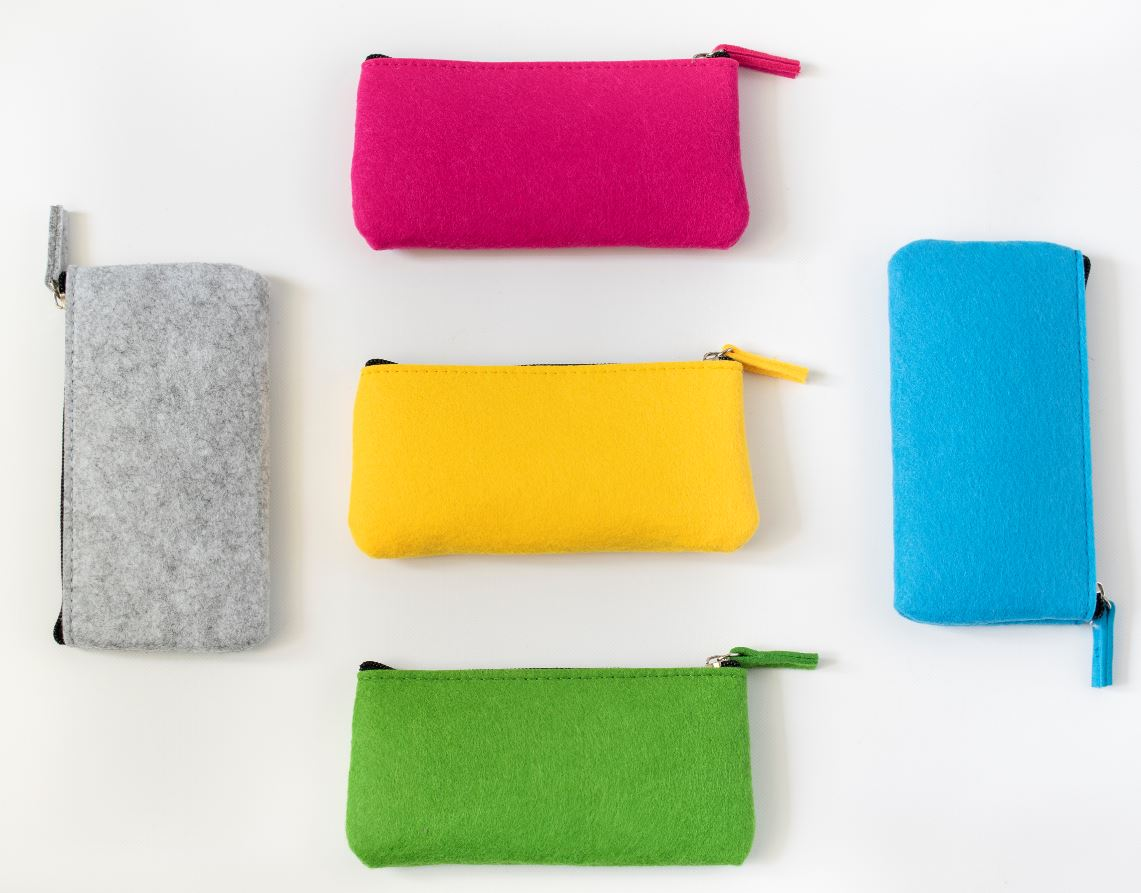 Zipper Felt Pouch | Optical Frames-Pencil Case | Amazing Case | Felted
