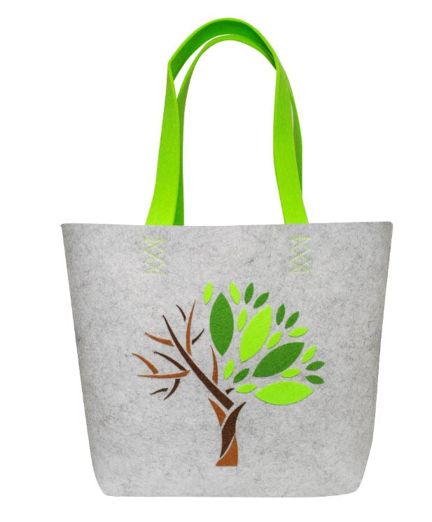 Felt tote bag Tree