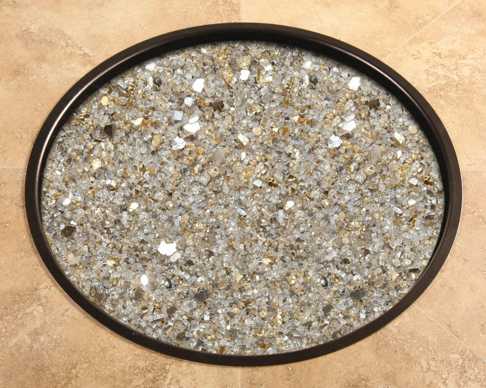 Champagne Mirrored Glass - 6lbs - Fire Pit
