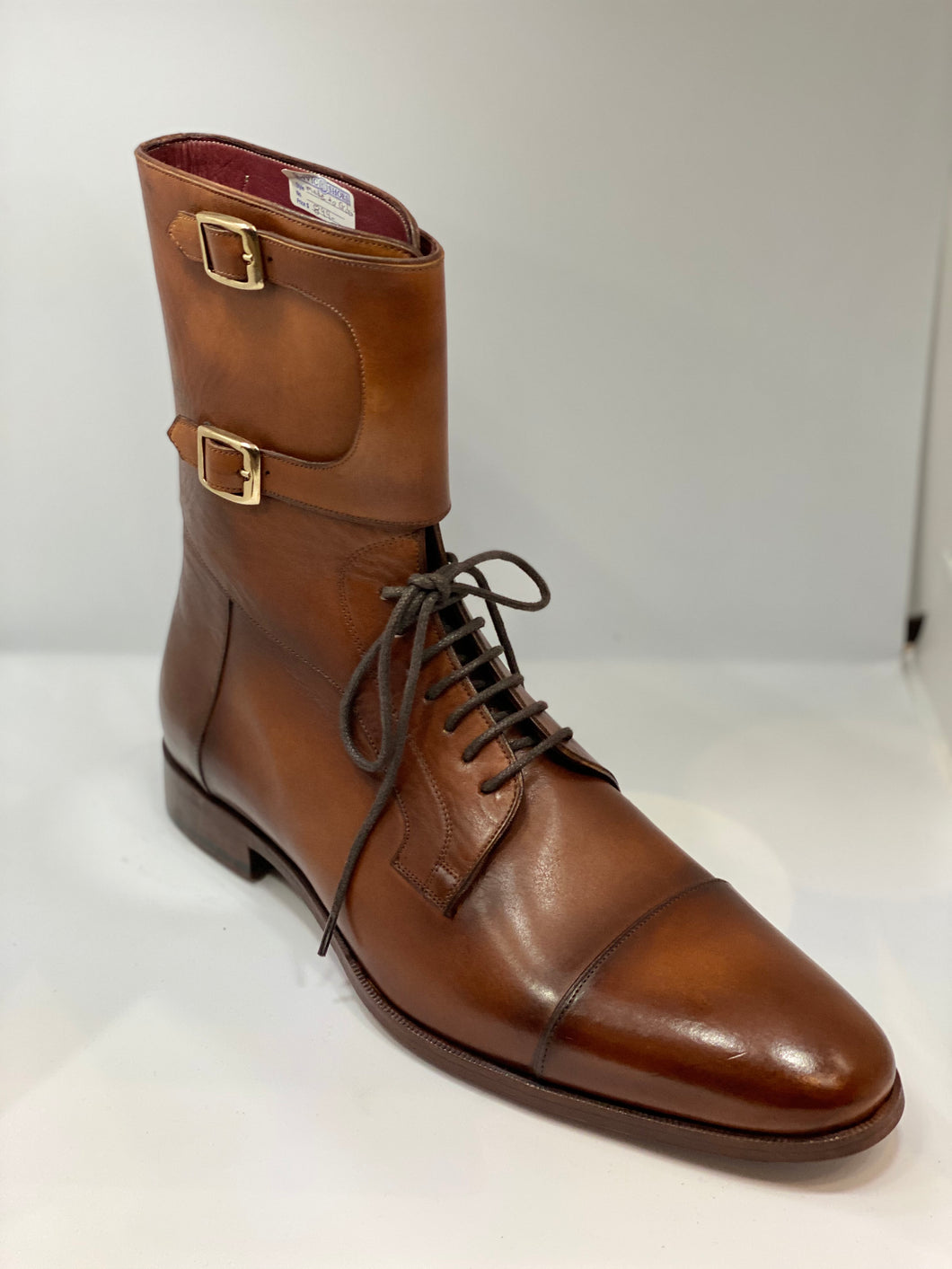 Sample !!! double Monk tall boot size 44