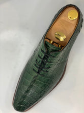 Load image into Gallery viewer, Hand made crocodile   tan & green