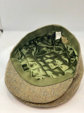 Load image into Gallery viewer, Abraham Moon Tweed Flat Cap khaki