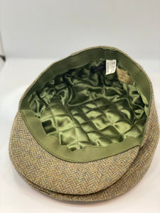 Abraham Moon Tweed Flat Cap khaki