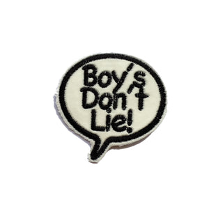 Boy's Don't Lie! Bubble Patch - A LOVE MOVEMENT