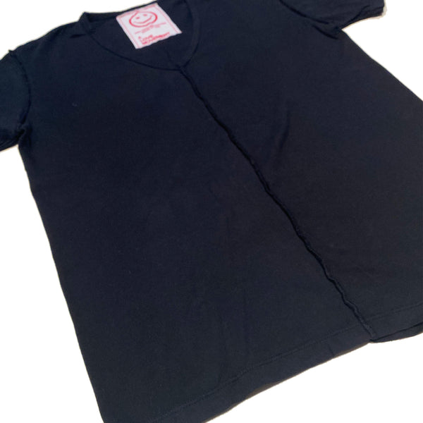 Orgasm Cotton V neck Tee Black - A LOVE MOVEMENT