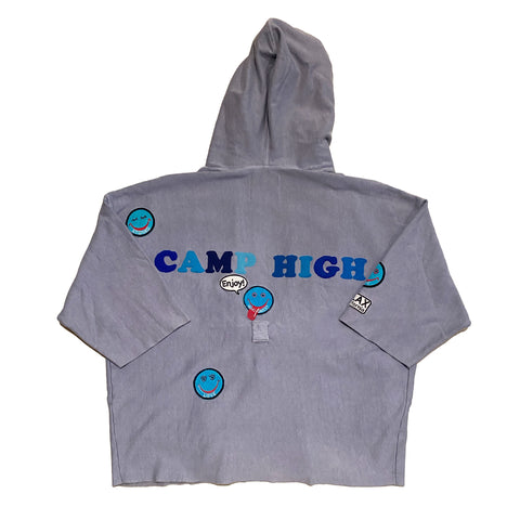 ALM x Camp High Cozy Robe Light Blue - A LOVE MOVEMENT