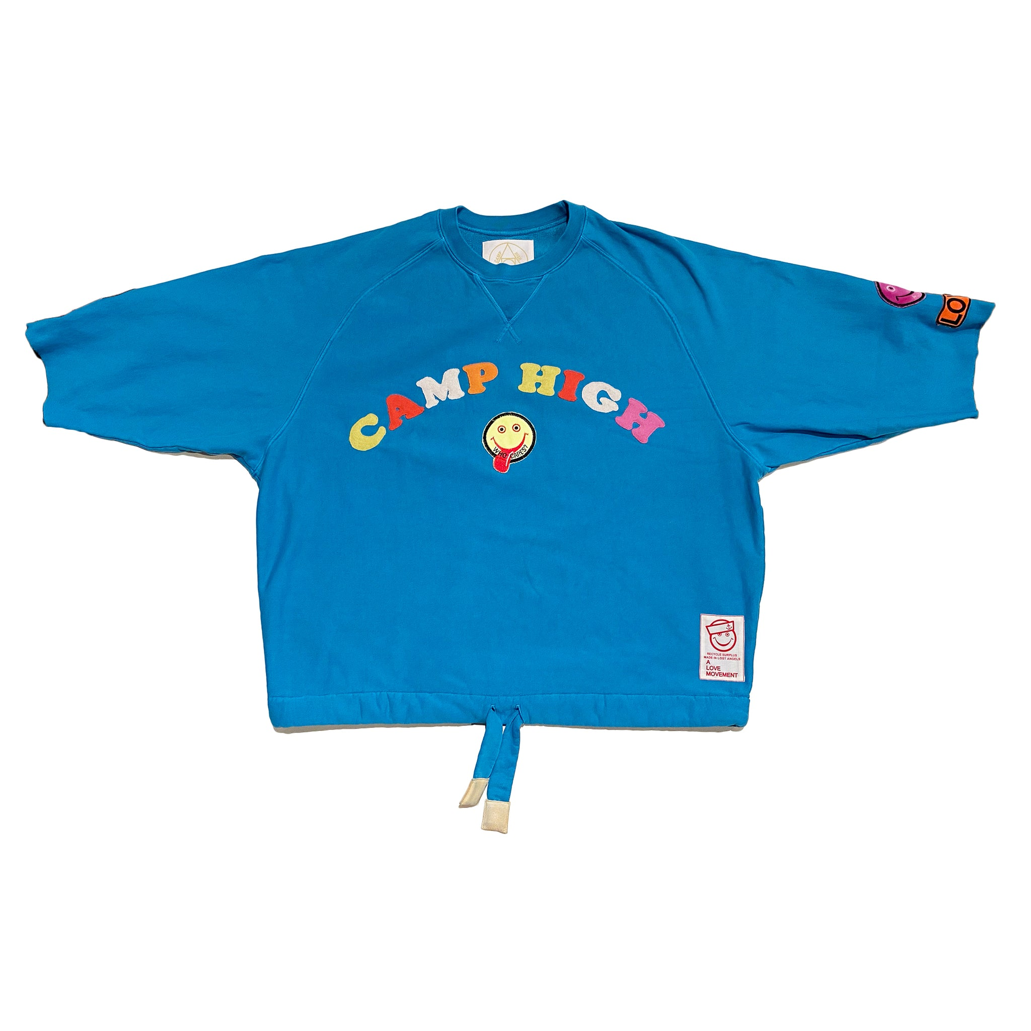 "ALM x Camp High Cozy Crewneck ""Stoned Sun"" Blue - A LOVE MOVEMENT"