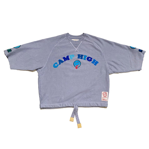 "ALM x Camp High Cozy Crewneck ""Stoned Sun"" Grey - A LOVE MOVEMENT"