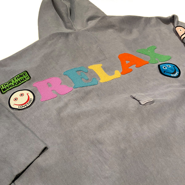 "ALM x Camp High Cozy Robe Light Blue ""RELAX"" - A LOVE MOVEMENT"