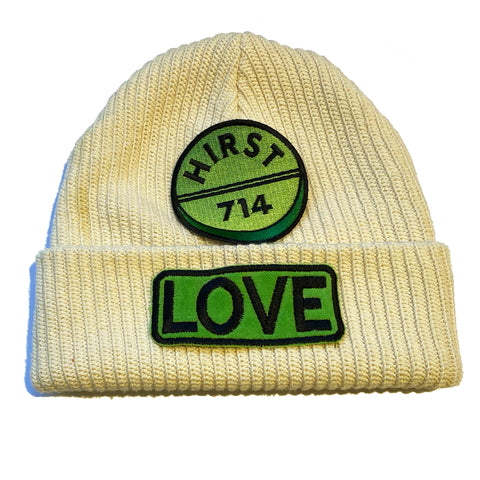 "ALM  x Damien Hirst LOVE Beanie ""GREEN"" - A LOVE MOVEMENT"