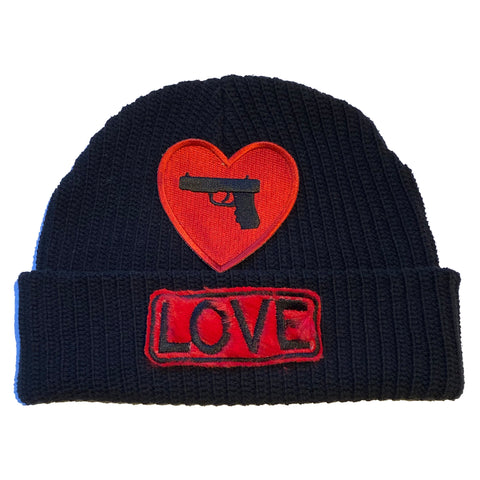"ALM  x Damien Hirst LOVE Beanie ""RED"" - A LOVE MOVEMENT"