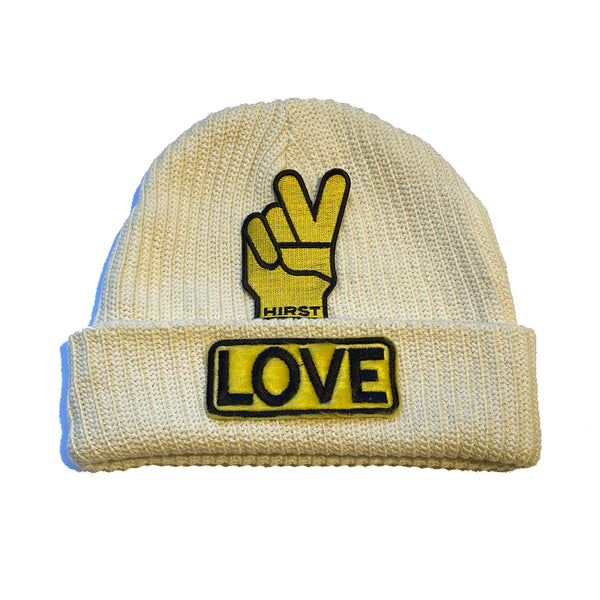 "ALM  x Damien Hirst LOVE Beanie ""YELLOW"" - A LOVE MOVEMENT"