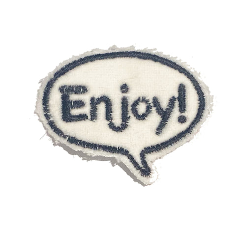 A Love Movement | Enjoy! Bubble Embroidered Patch