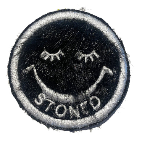 A Love Movement | Stoned Fur Smiley Patch