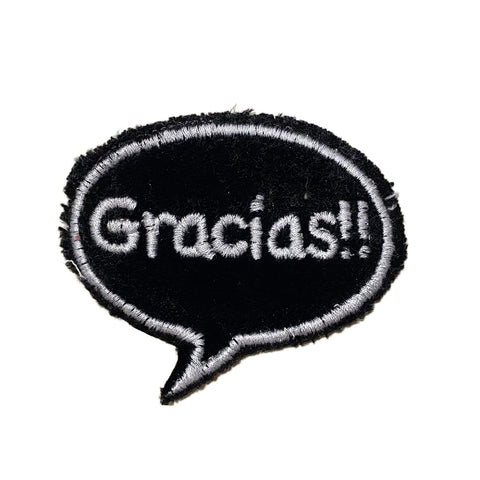 A Love Movement | Gracias!! Bubble Embroidered Patch