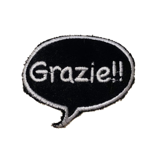 A Love Movement | Grazie!! Bubble Embroidered Patch