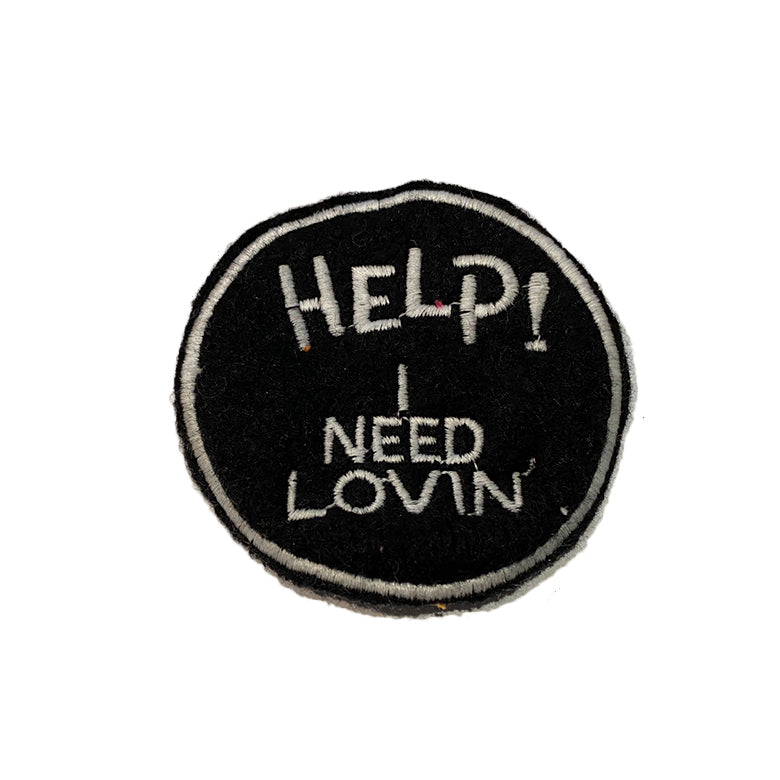 Cashmere HELP I NEED LOVIN' Patch - A LOVE MOVEMENT