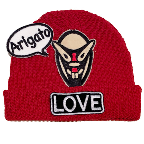 "ALM x Haroshi 3 patches  Beanie ""Arigato"" - A LOVE MOVEMENT"