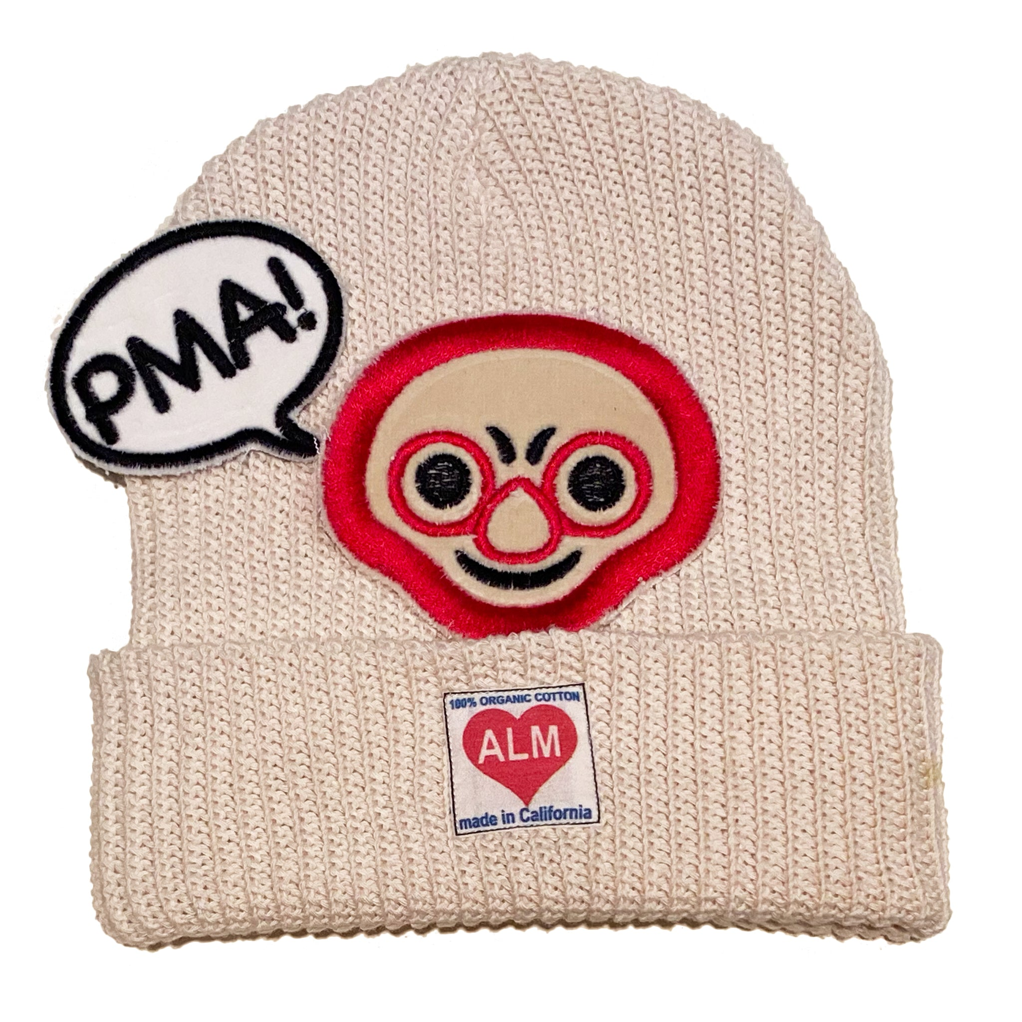 "ALM x Haroshi 2 patches  Beanie ""PMA!""#1 - A LOVE MOVEMENT"