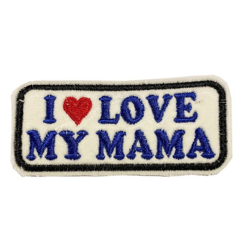 A Love Movement |I LOVE MY MAMA Embroidered Box Patch